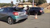Mercedes-Benz A45 AMG vs. Mercedes-Benz C63 AMG Estate -