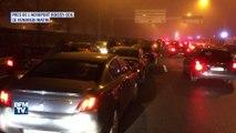 VTC: les images des embouteillages provoqués par la manifestation des chauffeurs