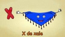 Alfabeto para crianças - X-Canção - O Alfabeto em português - canções infantis   Portuguese X -Song