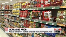 Prices of various food products raised,... worsening burden on consumer pockets