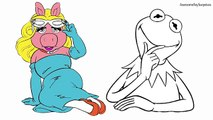 Miss Piggy and Kermit the Frog Muppets Coloring Page! Fun Coloring Activity!