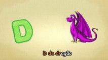 Alfabeto para crianças - D-Canção - O Alfabeto em português - canções infantis   Portuguese D-Song