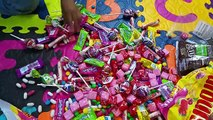 A lot of Candy in the Mouth with my Big Baby, M&Ms Skittles Chewing Gum Starburst Smarties
