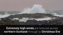 Storm Barbara batters Scotland with 70mph winds