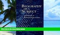 Audiobook  Biography of a Subject: An Evolution of Development Economics Gerald M. Meier Pre Order