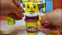 Awesome Sponge Bob With Play Doh & Acrobatics Car Sponge Bob Square Pants