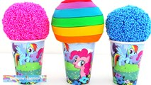 My Little Pony Foam Clay & Play Doh Ice Cream Cups MLP RainbowLearning (NEW)