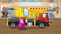 The Yellow Excavator & Diggers - Diggers Cartoons - Vehicle & Chi Chi Car for children