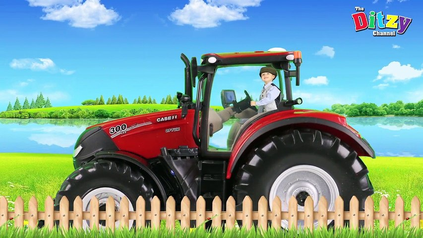 Riding along in my little RED TRACTOR SONG! Britains Tractor toy unboxing & review!