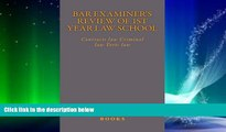 Audiobook  Bar Examiner s Review of 1st Year Law School  Contracts law Criminal law Torts law Bam