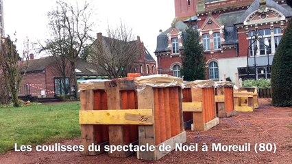 Les coulisses du spectacle de Noël à Moreuil (80)