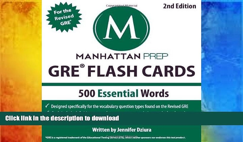 READ book  500 Essential Words: GRE Vocabulary Flash Cards (Manhattan Prep GRE Strategy Guides)
