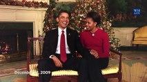 Humour et bilan pour les derniers voeux de Noël à la Maison Blanche du couple Obama