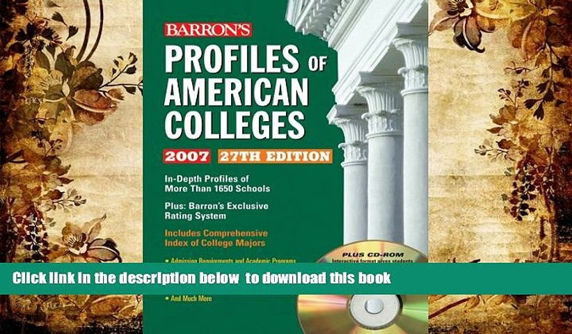 READ book  Profiles of American Colleges with CD-ROM (Barron s Profiles of American Colleges)
