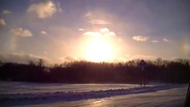 Sun Dog POLAR VORTEX Blizzard Brutal Cold Minnesota Whiteout Conditions Unusual Weather Arctic Cold