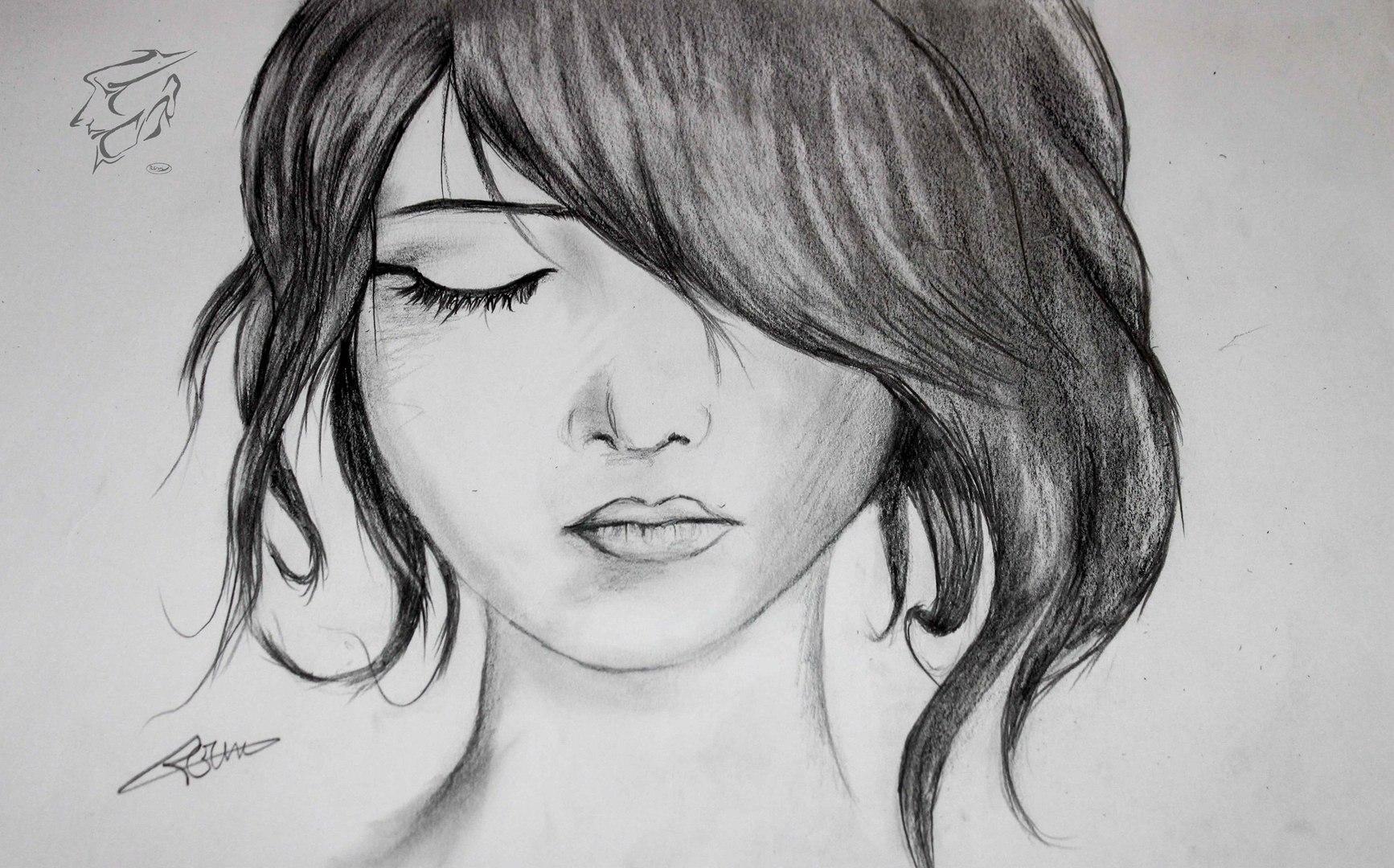 How To Draw A Girl رسم شعر فتاة بقلم الرصاص Video Dailymotion