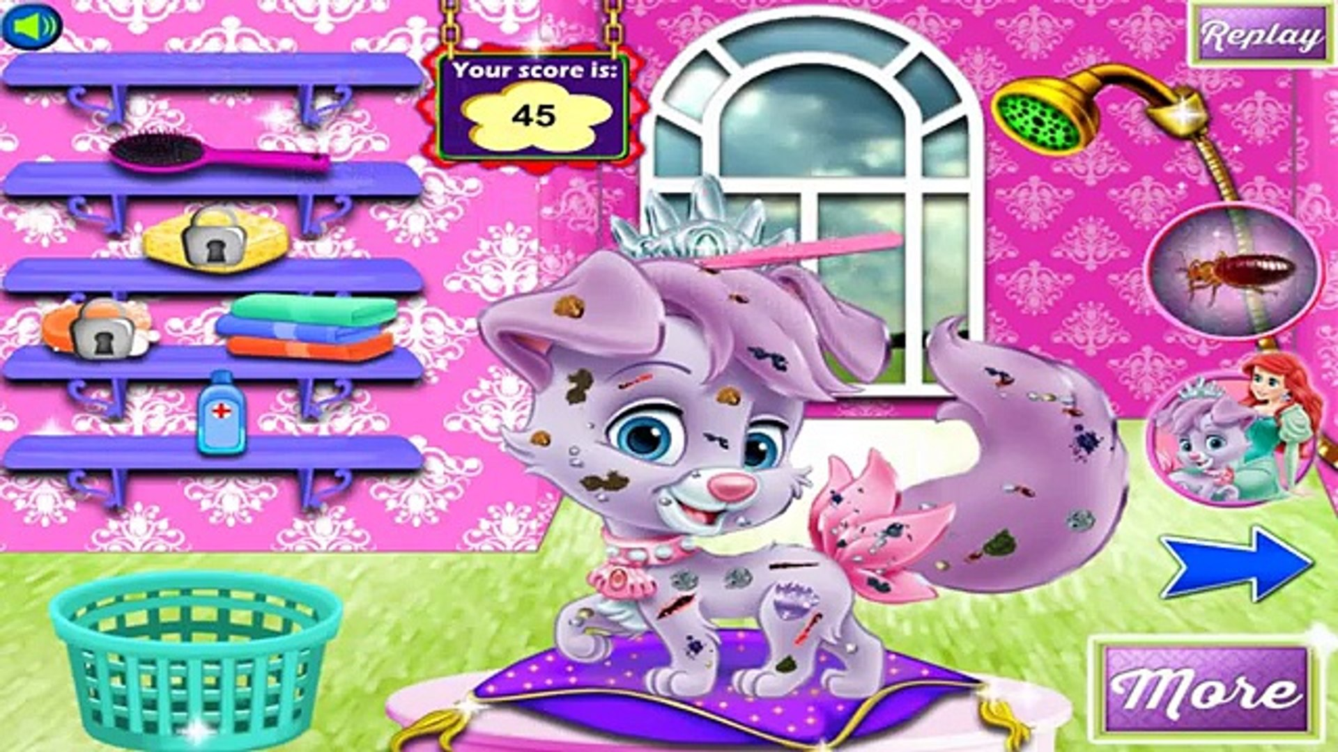 Ariel and Matey Palace Pets | Best Game for Little Kids - Baby Games To Play