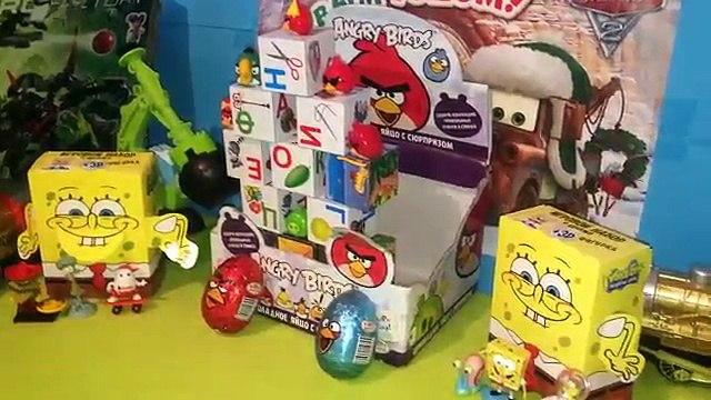 60 Surprise Eggs Angry Birds Сборник ,Angry Birds Go ,Angry Birds Star Wars,Angry birds KNex