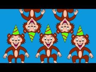 Five Little Monkeys | Nursery Rhyme Songs And Children Music