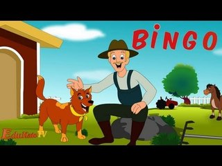 BINGO Dog Song | Nursery Rhyme With Lyrics | Cartoon Rhymes and Songs for Children