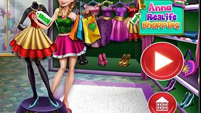 Disney Frozen Princess Anna Real Life Shopping - Frozen Princess Games For Kids