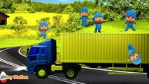 Five Little Pocoyo Jumping on the Truck | Five Little Monkeys Jumping on the Bed Nursery Rhyme