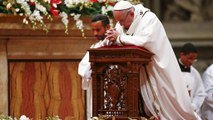 "Pope Francis says Christmas ""taken hostage"" by materialism at Christmas Mass"