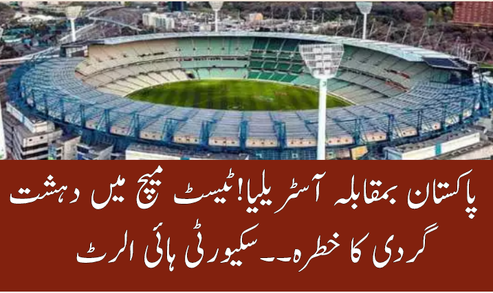 Security high alert for Pakistan vs Australia 2nd test at Melbourne