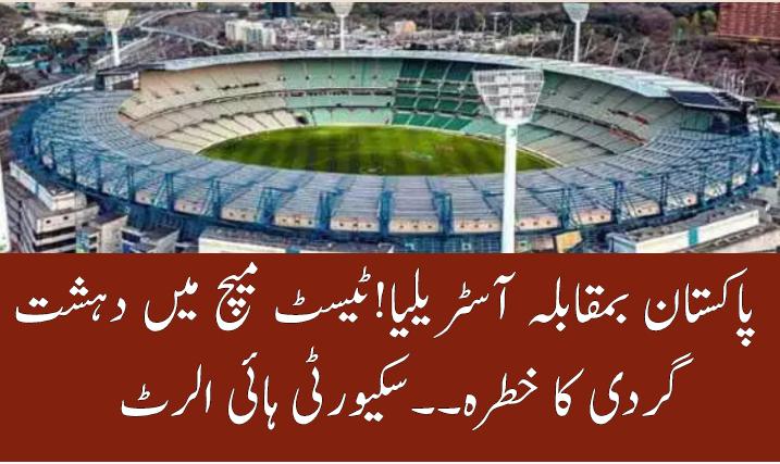 Security high alert for Pakistan vs Australia 2nd test at Melbourne