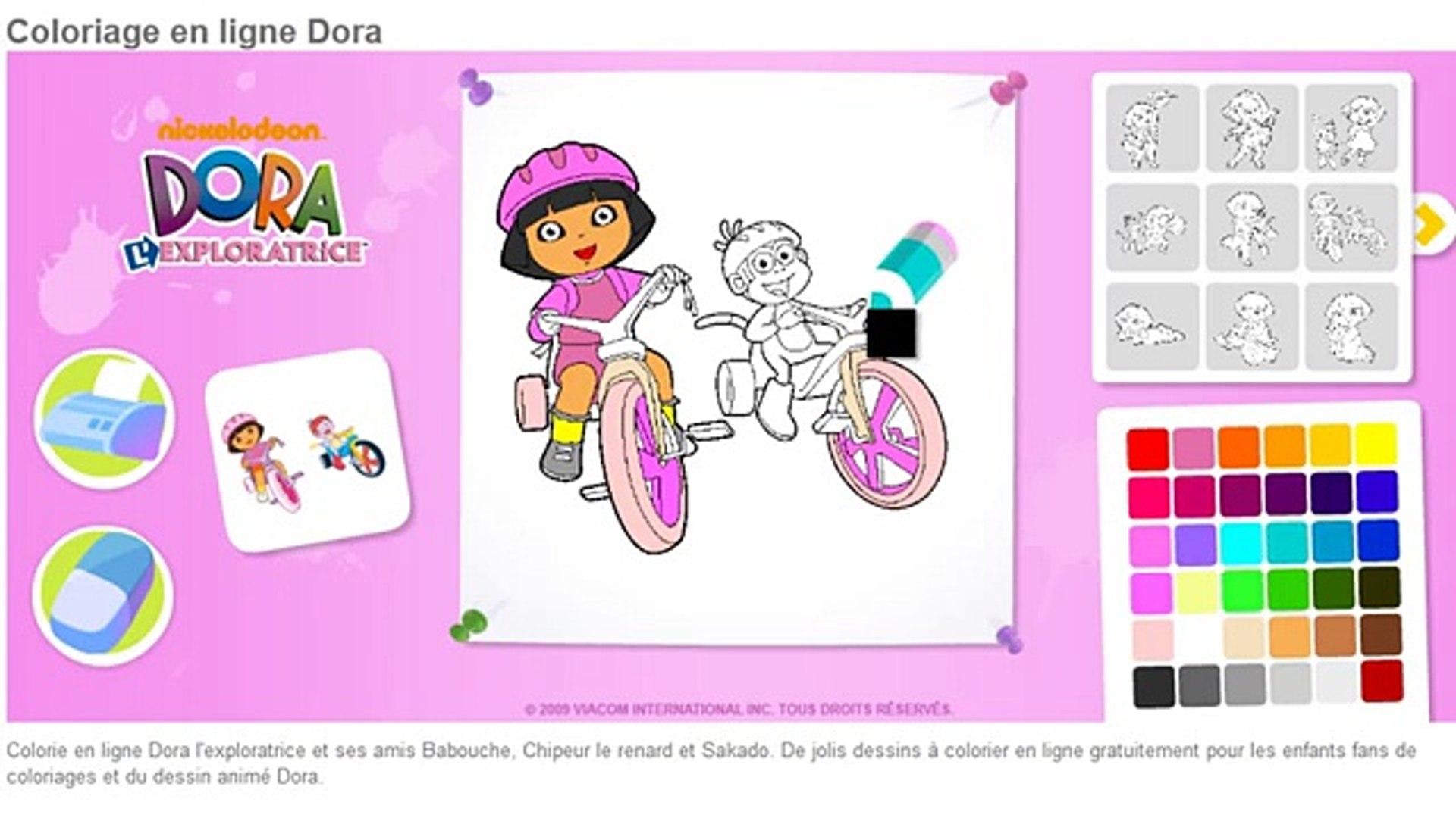 Dora Lexploratrice Dora Coloriage En Ligne Jeu Drole Enfants