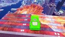 Color Green Custom Disney Lightning McQueen Cars Insane Jump w/ Avengers Hulk Super Hero