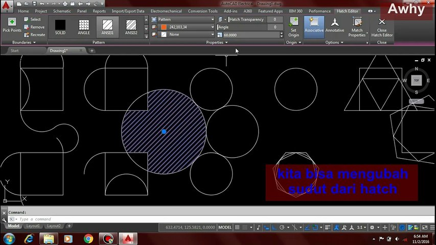 How to Use Hatch, Gradient, and Boundary in electrical AutoCAD 2016