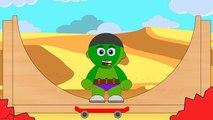 Babie Superheroes Ironman , Hulk, #Spiderman | SKATEBOARDING HALFPIPE EGGS #Animation