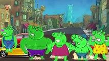 Mickey Mouse Hulk vs Peppa Pig Iron Man Family Finger Nursery Rhymes Lyrics