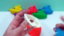 PLAY and LEARN with Play Doh Ships Shell Fish Pinguin Mods Fun & Creative for Kids