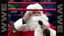 'Stone Cold' drops Santa Claus with a Stunner - Raw