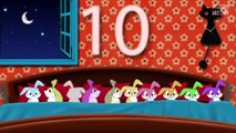 Ten Rabbits In The Bed | Ten In The Bed Nursery Rhymes Cartoon Animation Songs With Lyrics for Kids