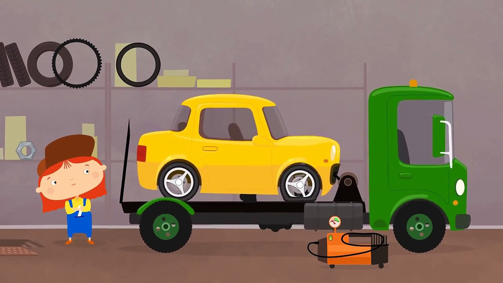 Çizgi film - Doktor Mac Wheelie - Sarı araba - Türkçe dublaj Çizgi Film izle - Animasyon HD izle 201