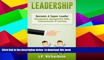 PDF Leadership Become A Super Leader Management Management