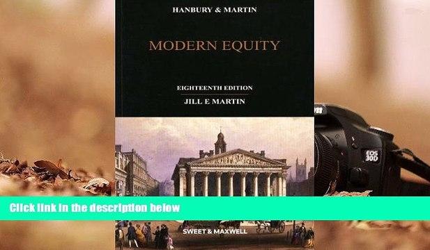 Read Online Jill E. Martin Hanbury and Martin: Modern Equity Audiobook Epub
