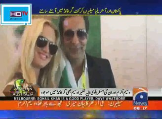 Wasim Akram and His Wife Watching Boxing Day Test - Watch Who She is Supporting