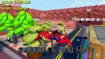 #The Wheels On The Bus Go Round & Round Nursery Rhymes Songs | #Hulk, Spiderman, Superheroes, Groot