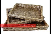 A Wicker Serving Tray comes with variety of designs and colors to please your guests