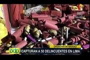Policía captura a 50 delincuentes en Lima durante operativo en Navidad