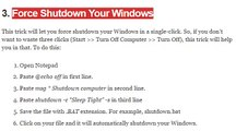 Force Shutdown Your Windows