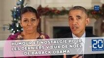 Humour et nostalgie pour les derniers vœux de Noël de Barack Obama