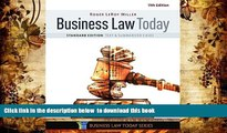 FREE [DOWNLOAD] Business Law Today, Standard: Text   Summarized Cases Roger LeRoy Miller READ ONLINE