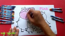 Peppa Pig Coloring Pages For Kids ♥ Learning Colors With Peppa Pig Coloring Book ♥ Songs For Kids