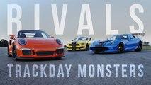 Rivals: Ford Mustang GT350R vs. Dodge Viper ACR vs. Porsche GT3 RS