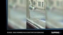 Ecosse : Deux hommes nus se battent en pleine rue (Vidéo)